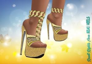 Dazzled Gold Heels