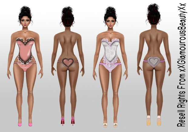Valentine's Heart Lingerie AP Catty Only!!!