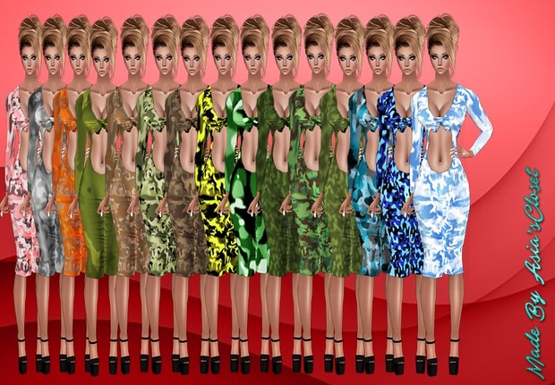 Kelia Camo Dresses