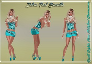 Zebra Teal Bundle Catty Only!!!