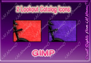 2 Lookout Catalog Icons GIMP (Halloween)