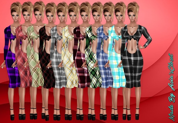 Kelia Plaids Dresses Resell Rights!!!