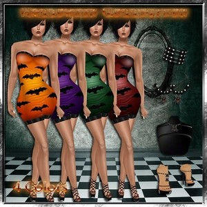 Halloween Collection 4 Colors Master Resell Rights!!!! 0/6 People