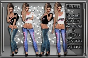 Breast Cancer Jeans & Top V2 Set Catty Only!!!