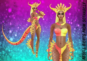 ZDragon Tutti Fruity Bundle Exclusive Catty Only!!!! In Sizes RL, RLL, RLS