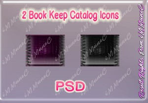 2 Book Keep Catalog Icons PSD (Halloween)