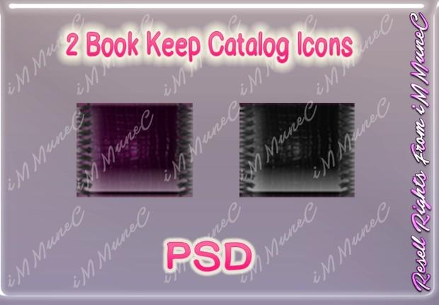 2 Book Keep Catalog Icons PSD (Halloween)