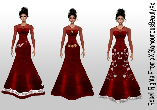 Valentine's Gown's Catty Only!!!!
