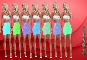 Pvc Short Skirts 30 Colors