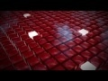 00168_abstract red cubes voxels lighting up one by one seamless loop