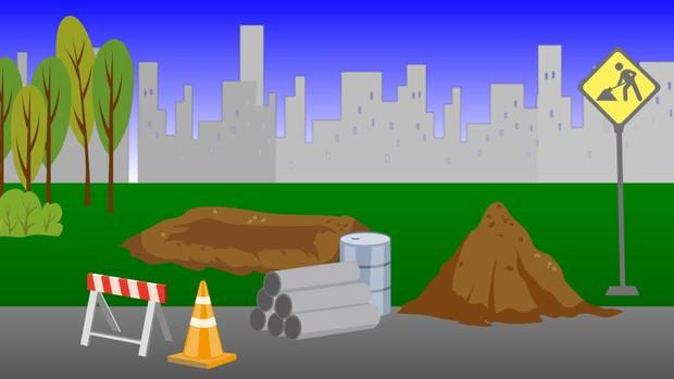 00169_cartoon style construction site seamless loop 2d animation
