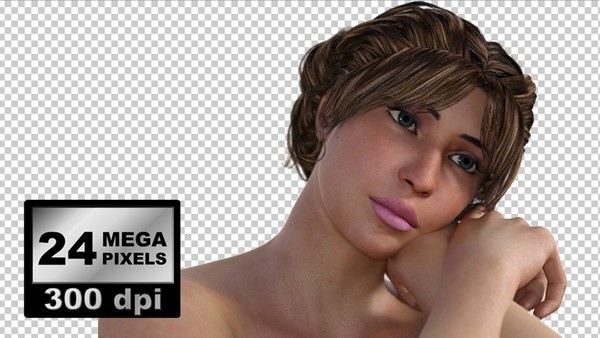 IMAGES PACK 0005: 3 X beautiful woman face close up photorealistic rendering