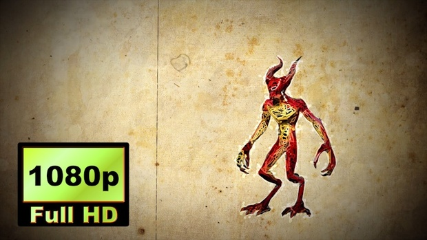 00039_graphic sketch style demon animation