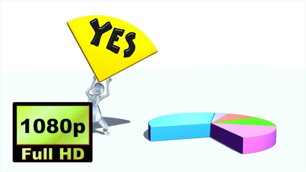 00040_stickman style 3D character holding a pie chart piece