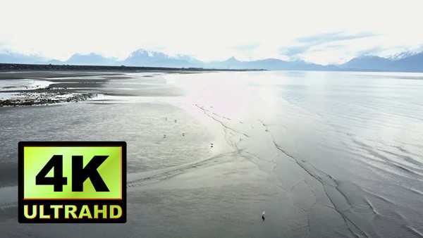 01151_Alaska drone passing above beautiful beachside_4K UltraHD Version