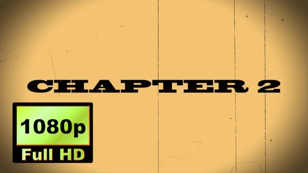 "00017_""CHAPTER 2"" text scramble word reveal with old movie effects"