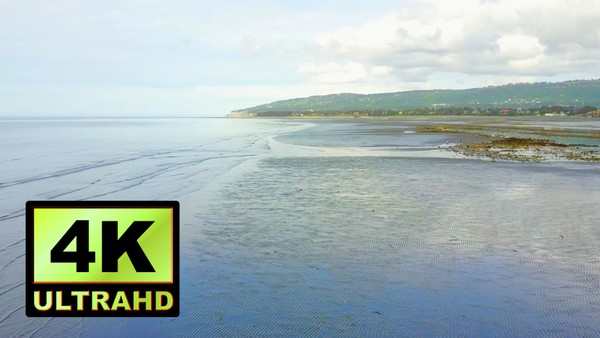 01265_Alaska drone passing above beautiful beachside_4K UltraHD Version