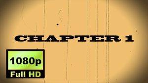 """00016_""""CHAPTER 1"""" text scramble word reveal with old movie effects"""