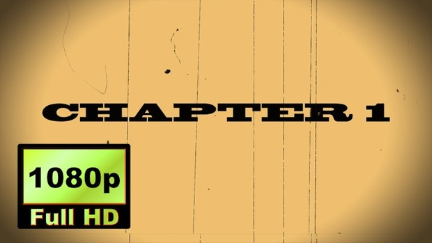 "00016_""CHAPTER 1"" text scramble word reveal with old movie effects"