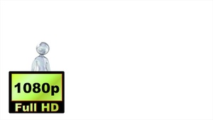 00032_cartoon stickman style character idle 3D animation
