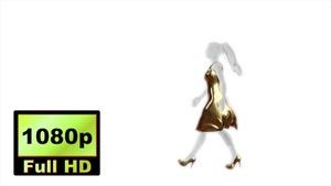 00029_Fashion Model Catwalk on white background 3D animation