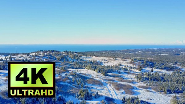 01748_aerial drone footage of winter landscape in Alaska_4K UltraHD Version