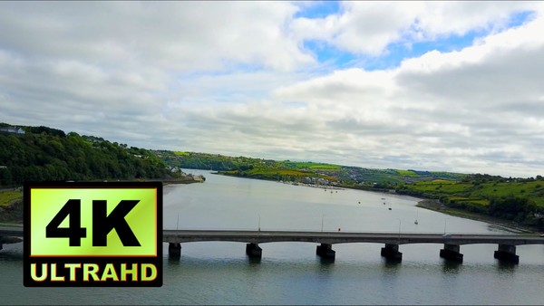 01305_aerial drone footage of a beautiful river in Ireland_4K UltraHD Version