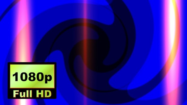00004_Abstract spinning shape and flashes 2D animation