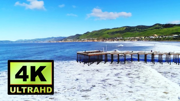 01294_Australia drone flying near Pismo Beach Pier_4K UltraHD Version