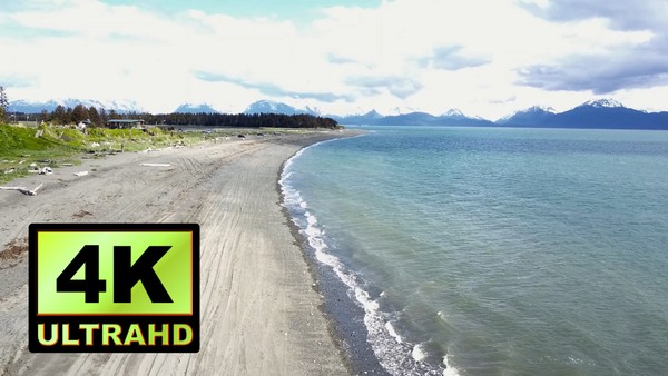 01132_Aerial drone footage of a beautiful beachside in Alaska_4K UltraHD Version