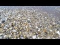 00210_GoPro Hero 4 footage beach side stones pebble and sea water