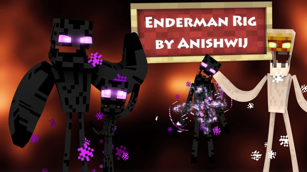 Cinema 4D - Enderman Rig V1