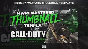 COD: Modern Warfare Remastered Thumbnail Template PSD v1