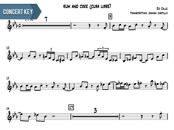 "Ed Calle - ""Rum And Coke (Cuba Libre)"" - Concert Key"