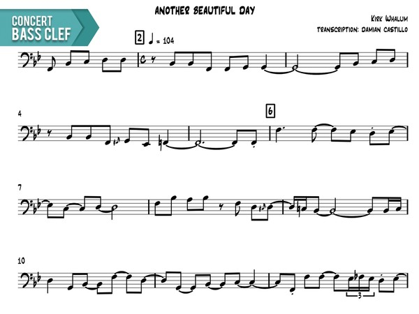 "Kirk Whalum - ""Another Beautiful Day"" - Concert Bass Clef"