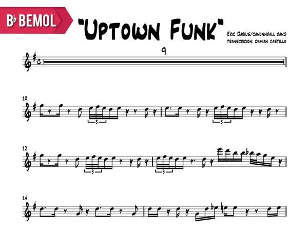 "Eric Darius - ""Uptown Funk"" - Bb"