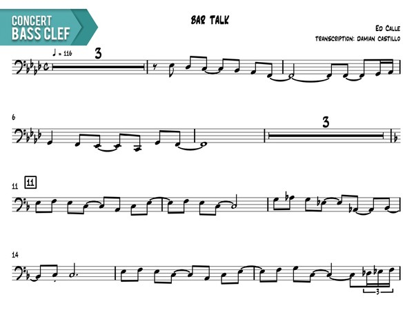 "Ed Calle - ""Bar Talk"" - Concert Bass Clef"