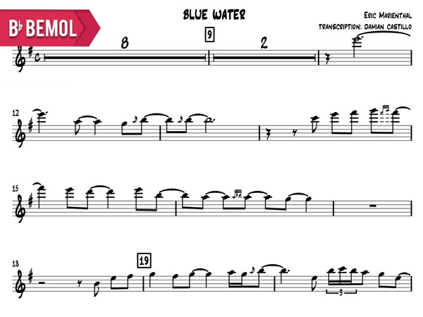 "Eric Marienthal- ""Blue Water"" - Bb"