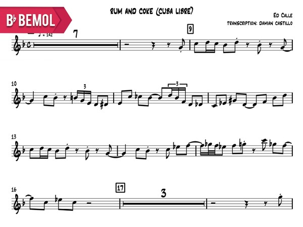 "Ed Calle - ""Rum And Coke (Cuba Libre)"" - Bb"