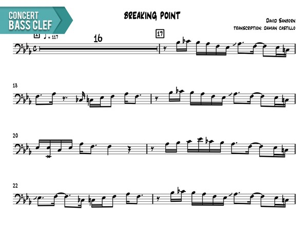 "David Sanborn - ""Breaking Point"" - Concert Bass Clef"