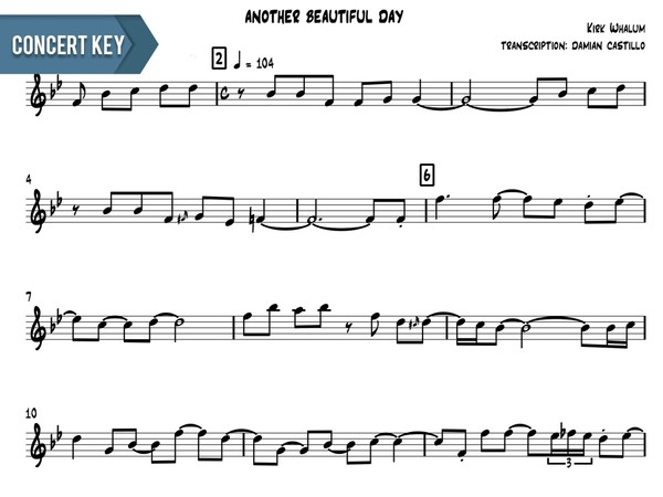 "Kirk Whalum - ""Another Beautiful Day"" - Concert Key"
