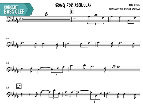 "Joel Frahm - ""Song For Abdullah"" - Concert Bass Clef"