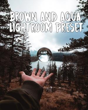 BROWN AND AQUA LIGHTROOM PRESET