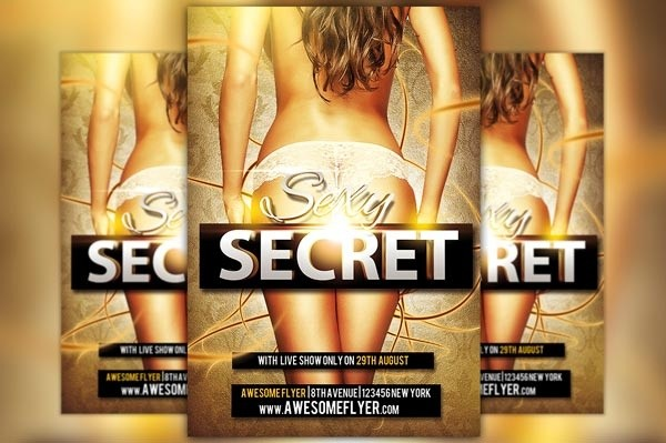 Sexy Secret Flyer Template