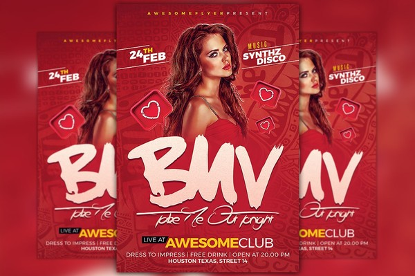 Be My Valentine Flyer Template Vol 2