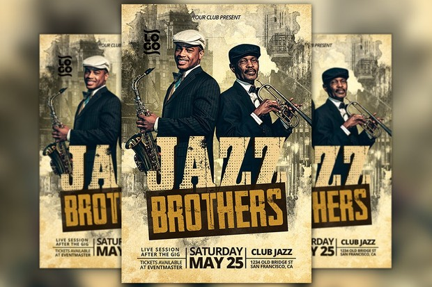 Jazz Band Music Event Flyer Template