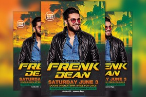 DJ Frank Flyer Template