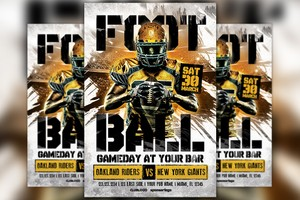 American Football Game Day Flyer Template