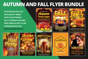 Autumn & Fall Flyer Template Bundle