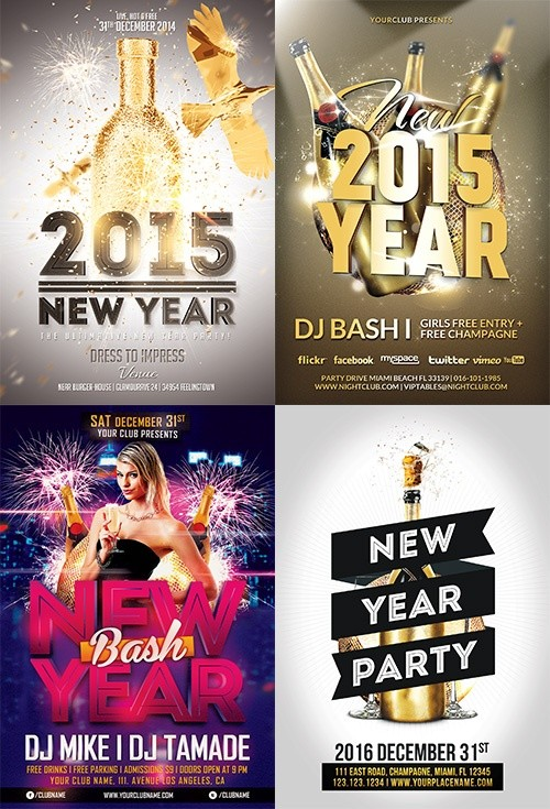 new year flyer template bundle awesomeflyer